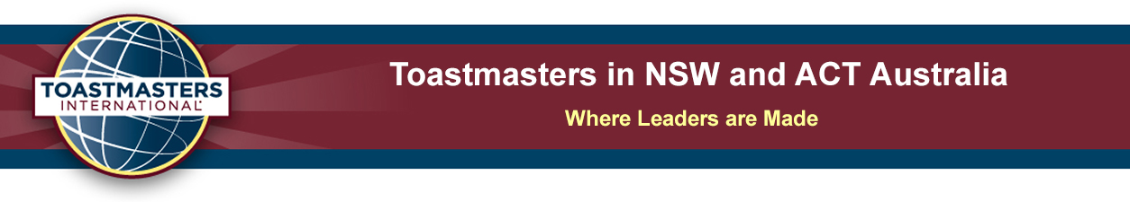 Toastmasters in NSW/ACT